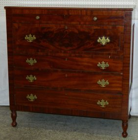 Cherry And Mahogany Butlers Desk Chest.
