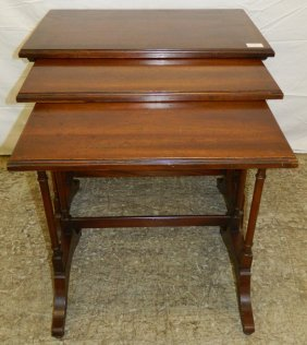 3 Brandt Mahogany Nesting Tables.