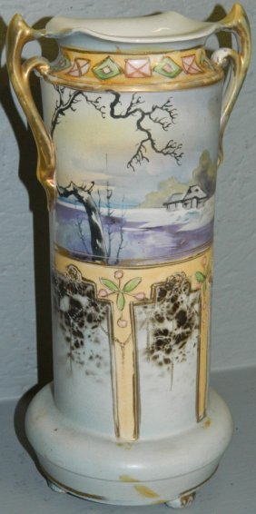 Hand Painted Unsigned Nippon Vase.