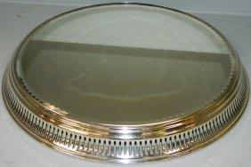 Silver Plate Mirrored Plateau.