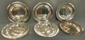 6 Heavy Silver Plate Bowls.