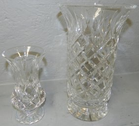 2 Signed Waterford Vases.