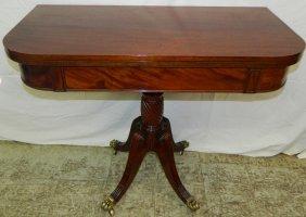 Regency Mahogany Foldover Game Table.