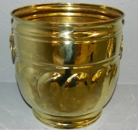 Polished Brass English Jardiniere.