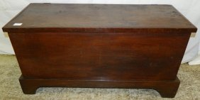 Primitive Cherry Dovetailed Blanket Chest.