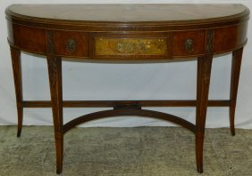 Demilune Adams Painted Console.