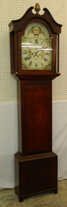 Mahogany Grandfather Clock With Works Only