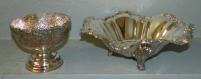 Silver Plate Bowl And Compote.