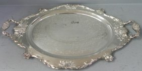 Christopher Wrenn By Wallace Silver Plate Tray.