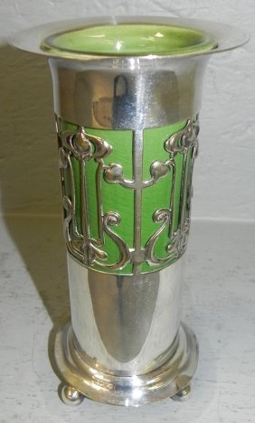 Nouveau English Plated Vase By Roberts & Belk
