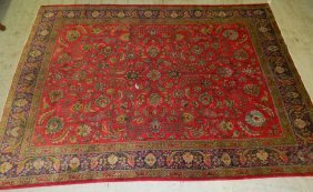 "9' 10"" X 12' 10"" Antique Persian Tabriz Rug"