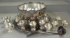 Sp 18 Pc. Punch Bowl Set With Tray By Ferner.