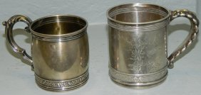 2 19th C. Gorham Sterling Child's Cups.