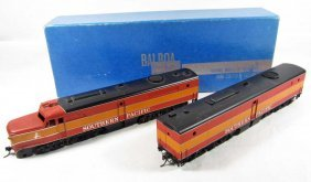 SOUTHERN PACIFIC TRAIN ENGINE AND CAR - BALBOA PREC