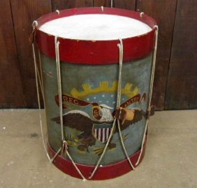 US CIVIL WAR UNION TABLE PAINTED TO RESEMBLE AN ARM