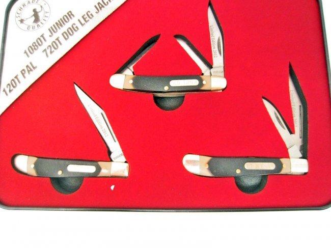 Schrade Old Timer Pocket Knife Limited Edition Set Lot 592