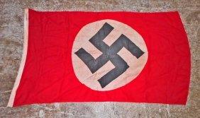 German Nazi Nsdap Political Swastika Podium Banner Flag
