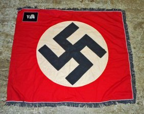 German Nazi Waffen Ss Totenkopf Standarte Swastika