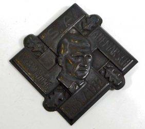 German Nazi Dictator Adolf Hitler Rally Tinnie Badge