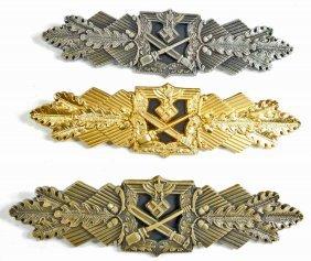 German Nazi Army Bronze Silver & Gold Close Combat
