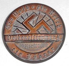 German Nazi Eir Reich Ein Vold Ein Fuhrer Tinnie Badge