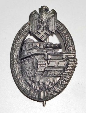 German Nazi Silver Tank Assault Badge