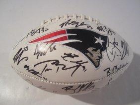 Patriots Signed Football
