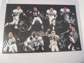 Cleveland Browns Auto Photo