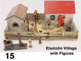 Elastolin Village With Figures