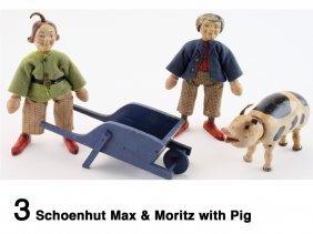 Schoenhut Max & Moritz With Pig