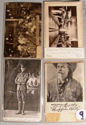 Western Postcards W/ Buffalo Bill, Maine Hermet