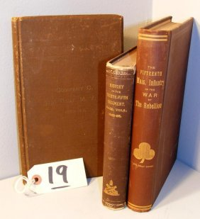 Massachusetts Regimental Civil War Books (signed)