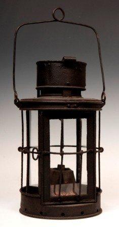 Mid 1800's Iron Lard Lantern