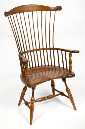 """Colonial Reproductions"" Comb Back Chair"