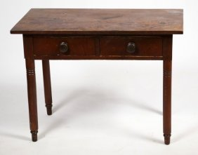 19th C Sheraton Worktable
