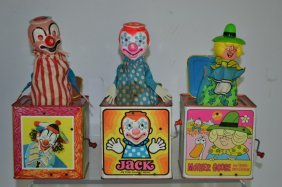 Collection Of Three Vintage Jack In The Box