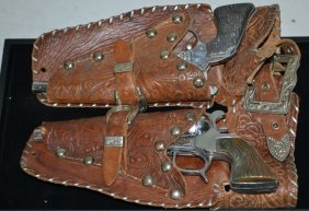 Roy Rogers Leather Gun Holster