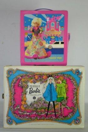 World Of Barbie Double Doll Case W/ Dolls & Acc.
