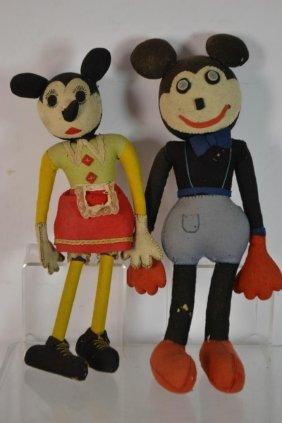 Two Early Walt Disney Type Dolls