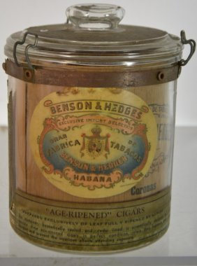 Benson & Hedges Havana Cigar Advertising Jar