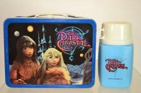 "1982 "" The Dark Crystal"" Lunch Box W/ Thermos"