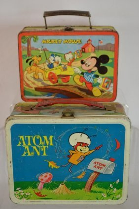 Adam Ant & Donald Duck Tin Lunch Boxes