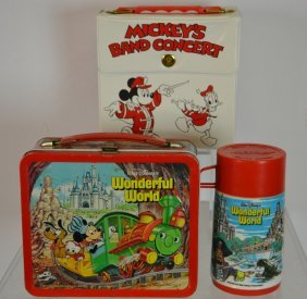 Two Walt Disney Lunch Boxes