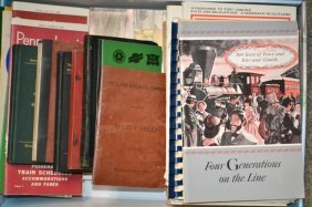 Grouping Of Railroad Guides, Pamphlets & Books