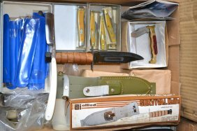Various Lot Of Knives As Seen In Photos