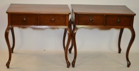 Pair Of 19th Century Chestnut Wash Stands