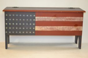 Custom Patriot Bench With Lift Lid