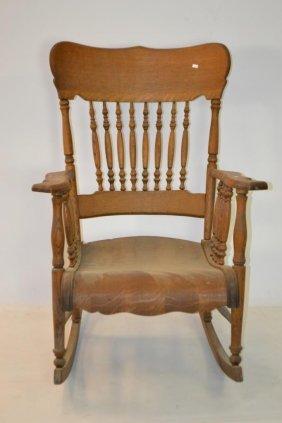 Early 20th Century Oak Rocking Chair