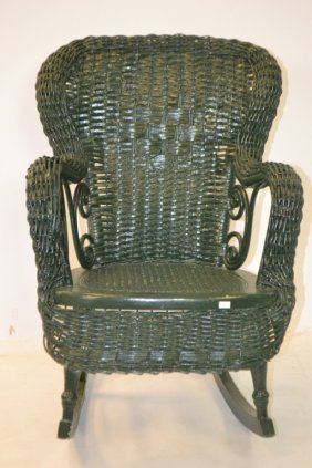 Early Wicker Child's Rocking Chair