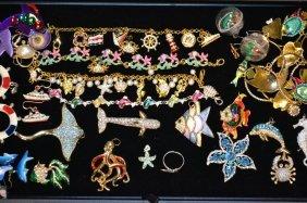 Vintage Animal & Rhinestone Costume Jewelry